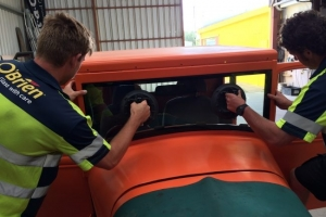 Fitting glass to a Hotrod