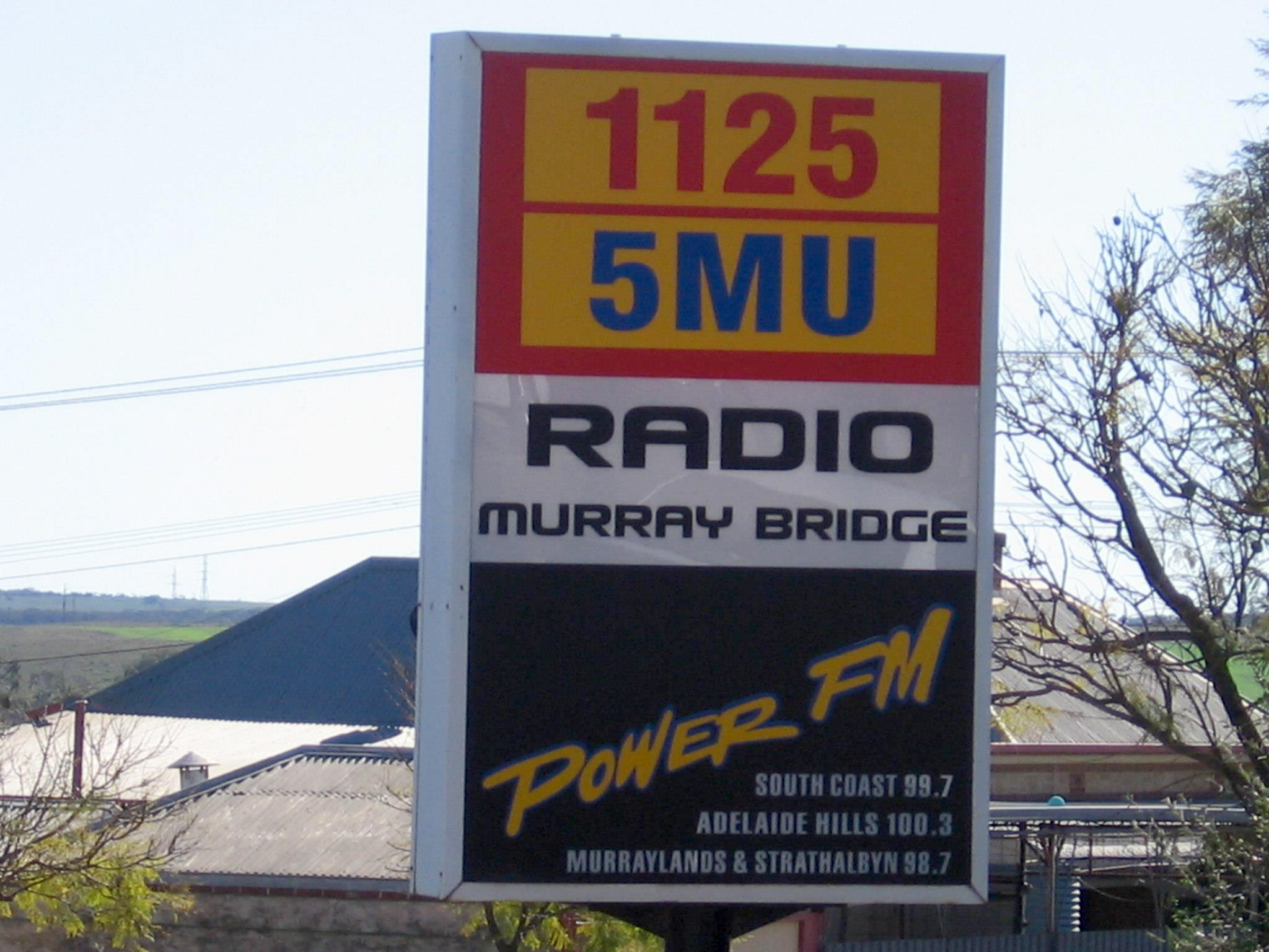 5MU Radio Lightbox Sign