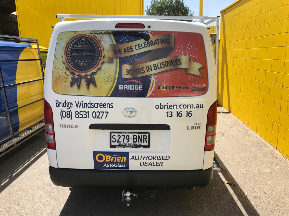 Bridge Windscreens Vehicle Wrap