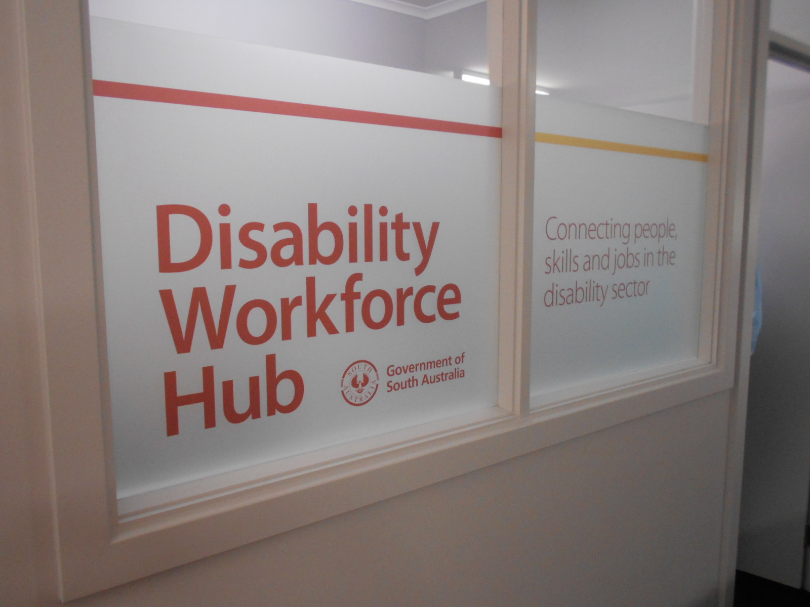 Disability Workforce Hub - Shopfront Sign