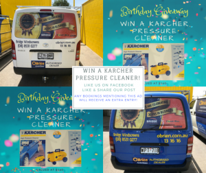 Bridge Windscreens / Tint4U competition to win a Karcher Pressure Cleaner