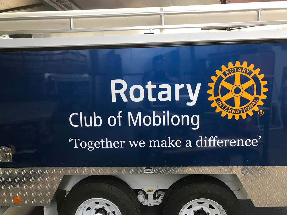 Rotary Club of Mobilong Trailer Decal