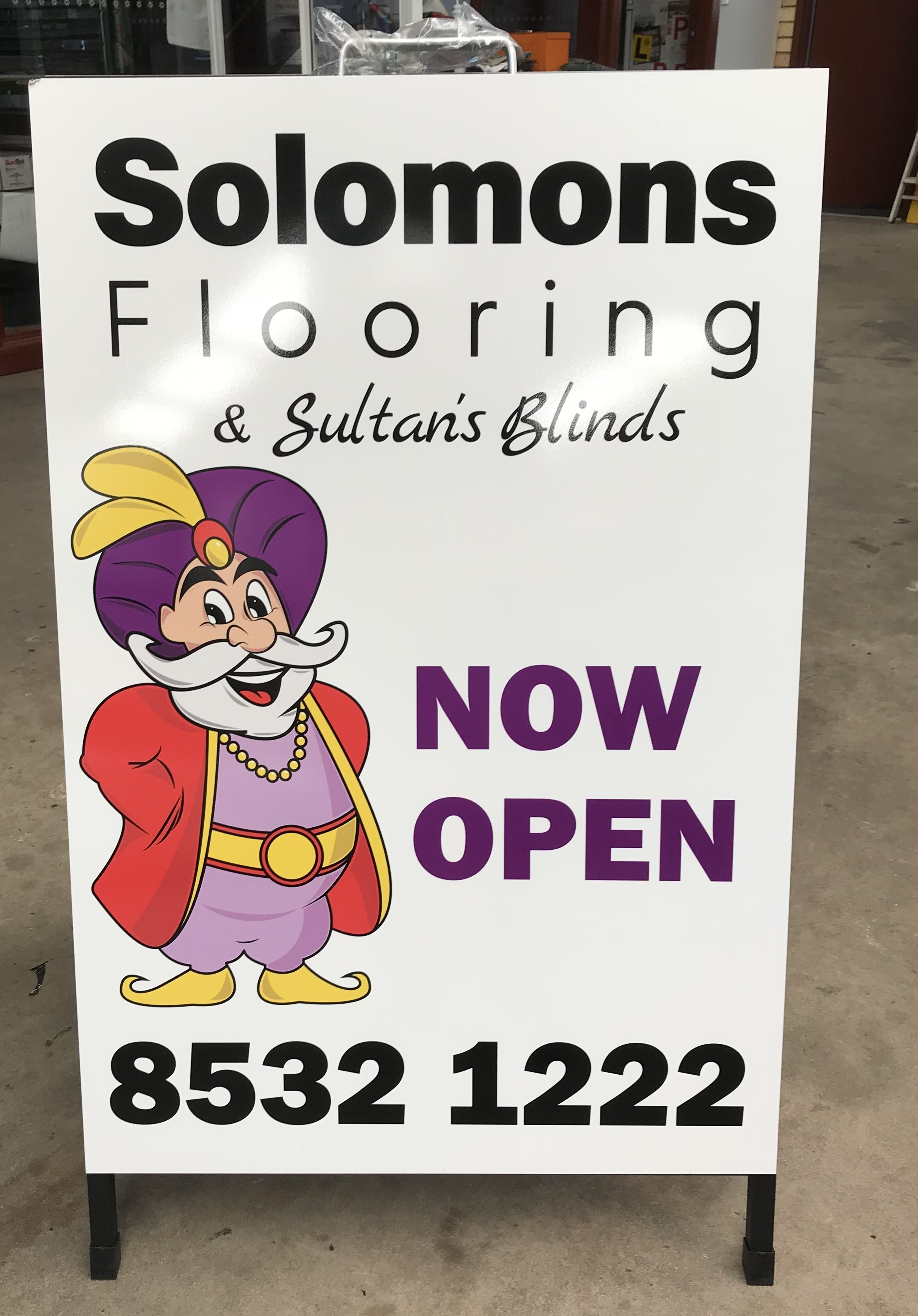 Solomons Flooring A Frame Sign