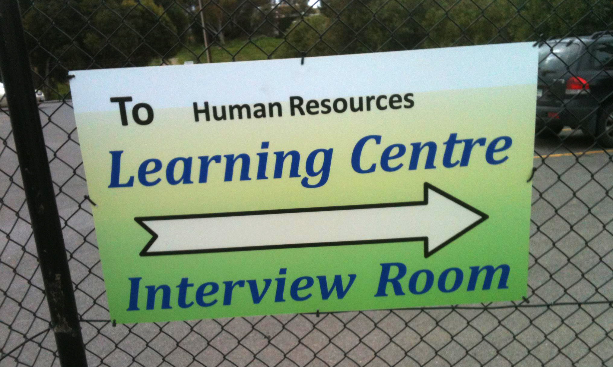 Thomas Foods - Learning Centre Corflute Sign