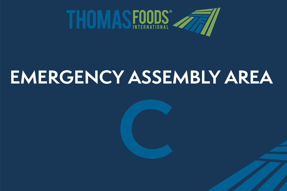 Thomas Foods - Emergency Assembly Safety Sign