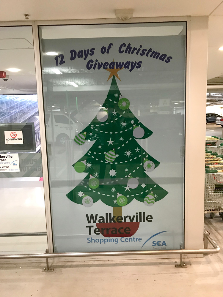 Walkerville Terrance Shopping Centre - Christmas Decal