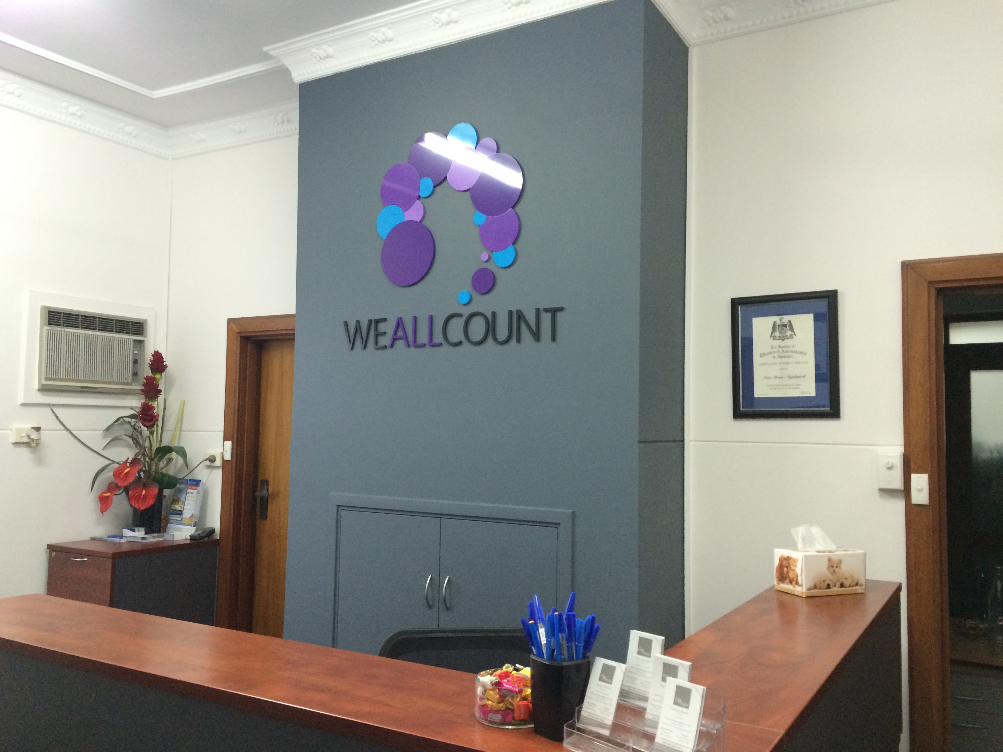 We All Count Acrylic Sign