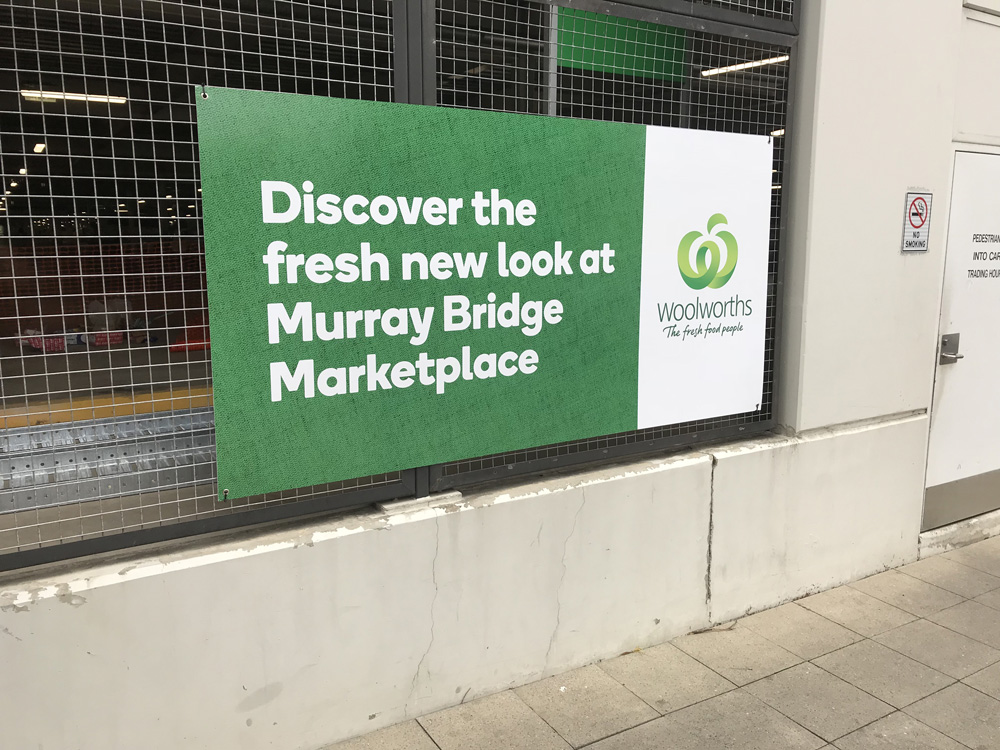 Woolworths Atrium Sign